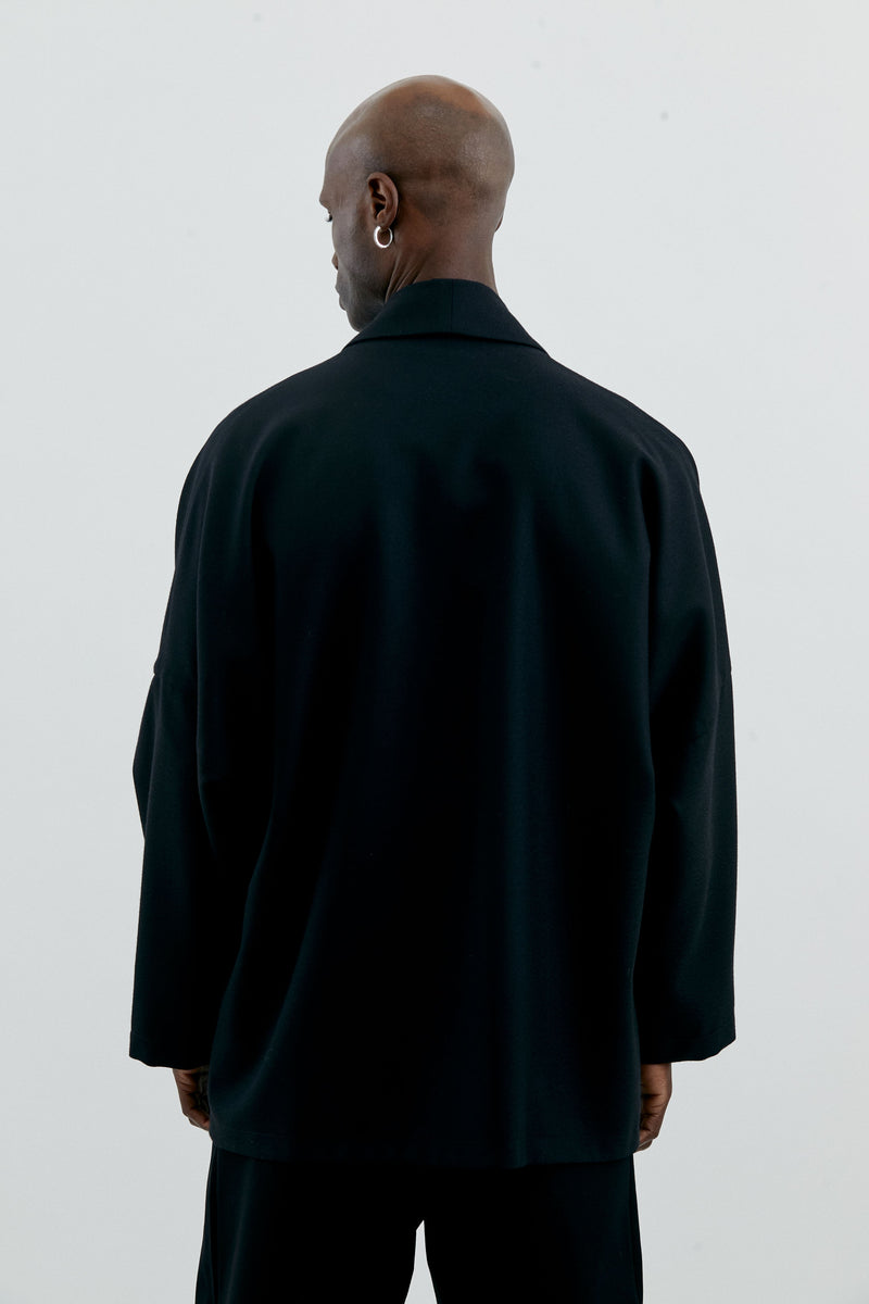 COIN BLACK WOOL