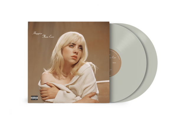 """Happier than ever"" vinyle exclusif gris"