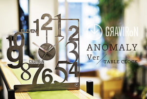 ANOMALY TABLE CLOCK 黒皮鉄