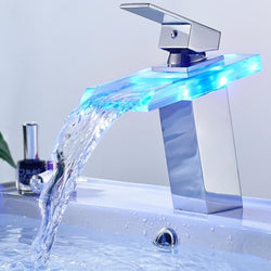 Temperature LED Basin Glass Tap - Grona