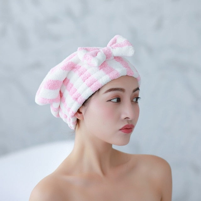 Microfiber Hair Towel with Bow - Grona
