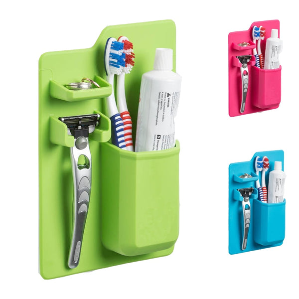 Silicone Toothbrush and Razor Organizer For Bathroom - Grona