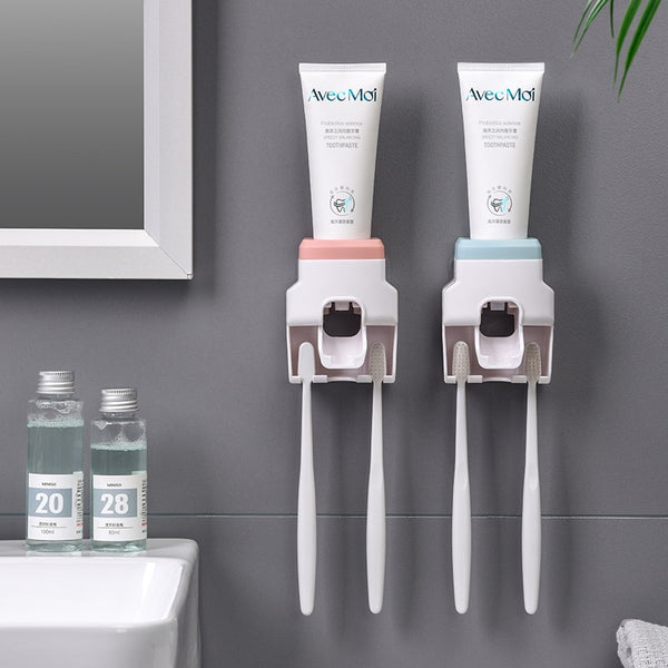 Toothpaste Dispenser with Toothbrush Holder - Grona