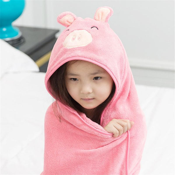 Cute Hooded Baby Towel - Grona