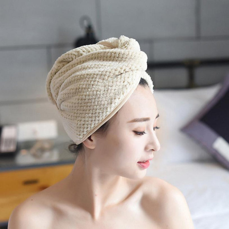 Microfiber Hair Towel Turban - Grona