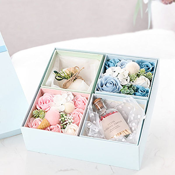 Aromatherapy Candle and Bath Roses Gift Box - Grona
