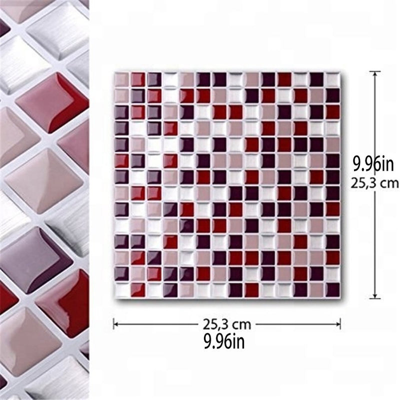 3D Adhesive Mosaic Tile Stickers - Grona