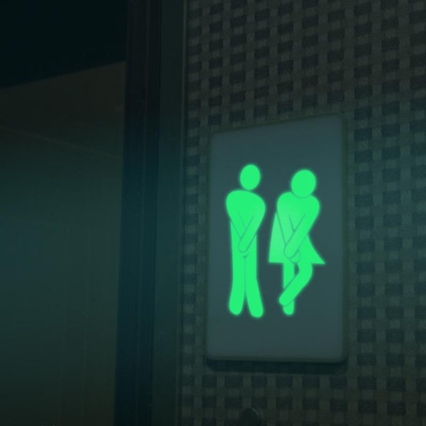 Luminous WC Toilet Door Sticker - Grona