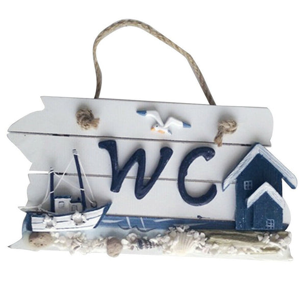 Wooden WC Door Hanging Sign - Grona