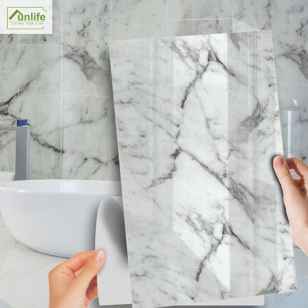Marble Sticker Glossy Wallpaper - Grona