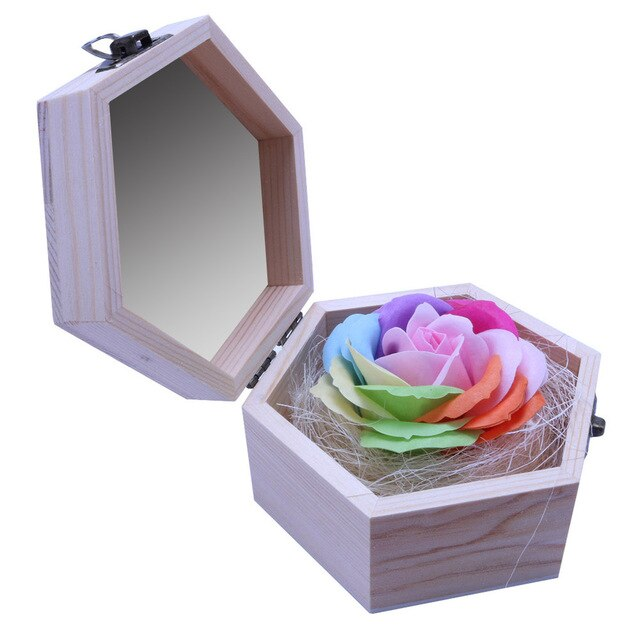 3 Layer Soap Rose with Gift Box - Grona