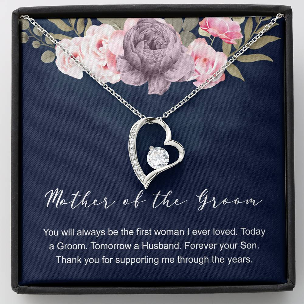 To My mom YOU WILL ALWAYS BE THE FIRST - CARD Forever Love Necklace