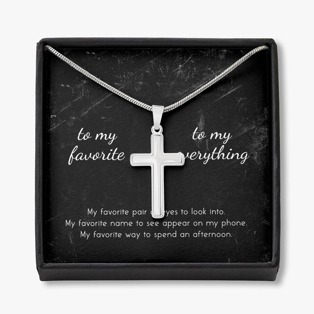 To My Girlfriend My everything Cross Necklace