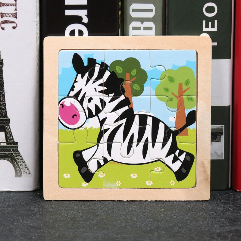 Little Wooden Zebra Puzzle