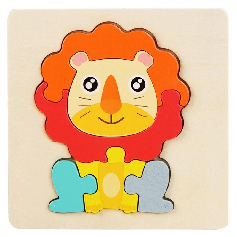 Wooden Lion Block Puzzle