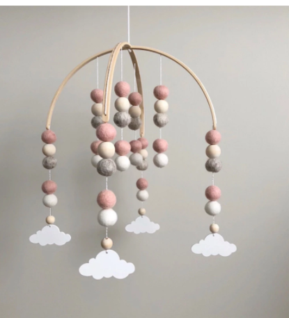 Dreamy Pink Felt Mobile