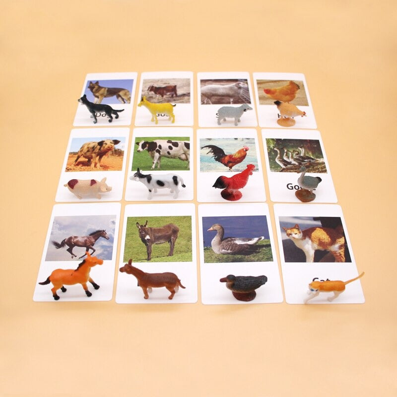 Montessori Farm Object to Picture Match Game