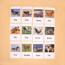 Load image into Gallery viewer, Montessori Farm Object to Picture Match Game
