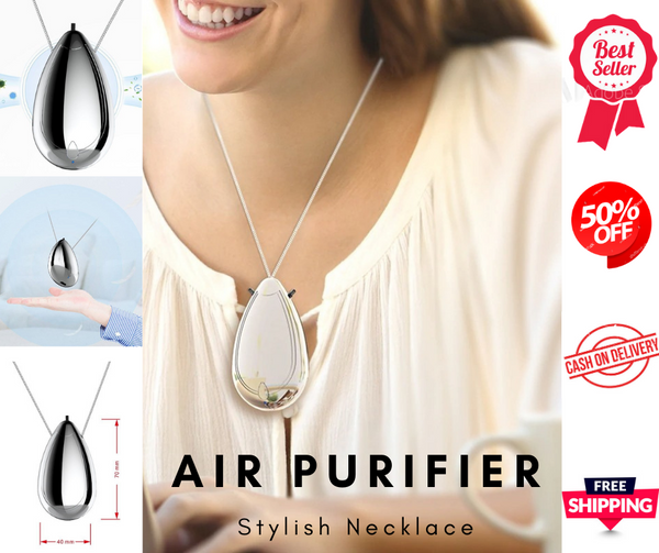 Wearable Air Purifier Necklace For Kids & Adult