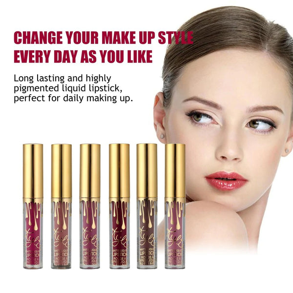 Matte Lipstick Set, 6 Pcs Liquid Lipstick Velvet Long Lasting(BUY1 TAKE 1 FREE)