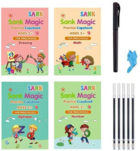 Magic Practice Copybook(4 Pack) with Pen