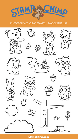 A cute woodland creatures stamp set by Stamp Chimp