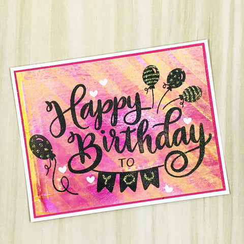 Happy Birthday Stamp for Easy Cardmaking
