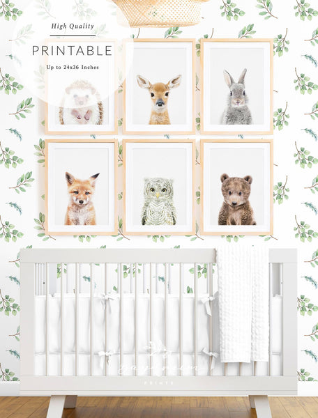 Woodland creature decor for baby's room