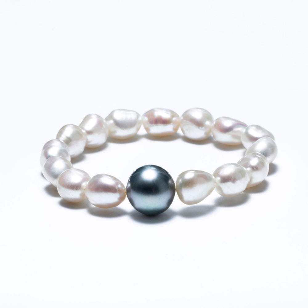 Nymphea Freshwater and Tahitian Pearl Bracelet