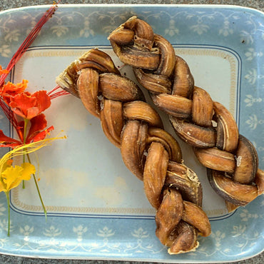 Dehydrated Braided Bully Sticks/Bully braids - Dogs Dream Food
