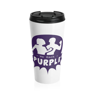 We Hack Purple Stainless Steel Travel Mug