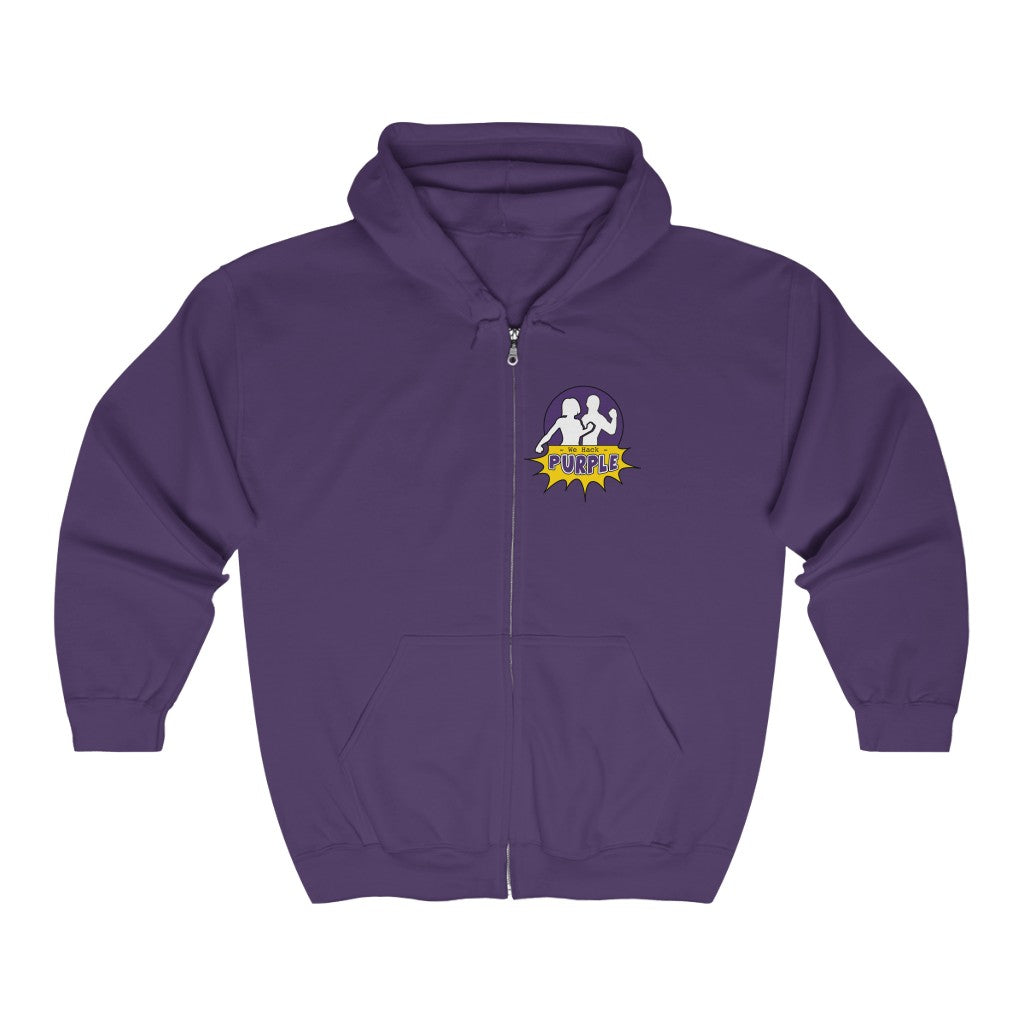 "We Hack Purple ""Unisex"" Full Zip Hooded Sweatshirt - Printed and shipped from Canada!"