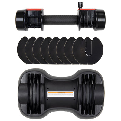 QUICKLOCK 25LB ADJUSTABLE DUMBBELLs