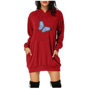 Butterfly Hoodies Oversized Top