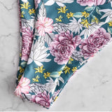 Floral Print Ruffles Swimsuit