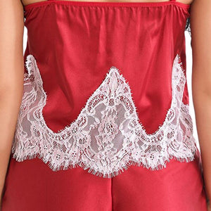 Lace Waves Camis and Shorts