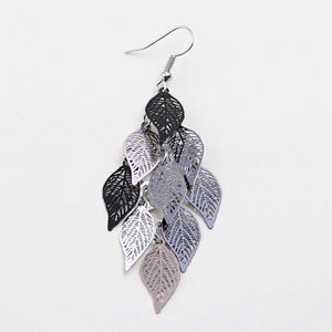 Leaves Tassel Drop Earrings
