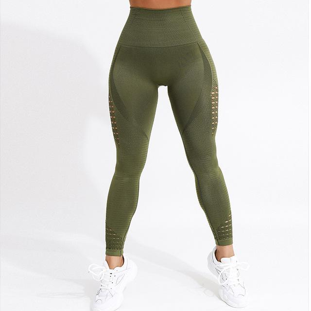 Athletic me hollow out leggings - Fashion Bug Online