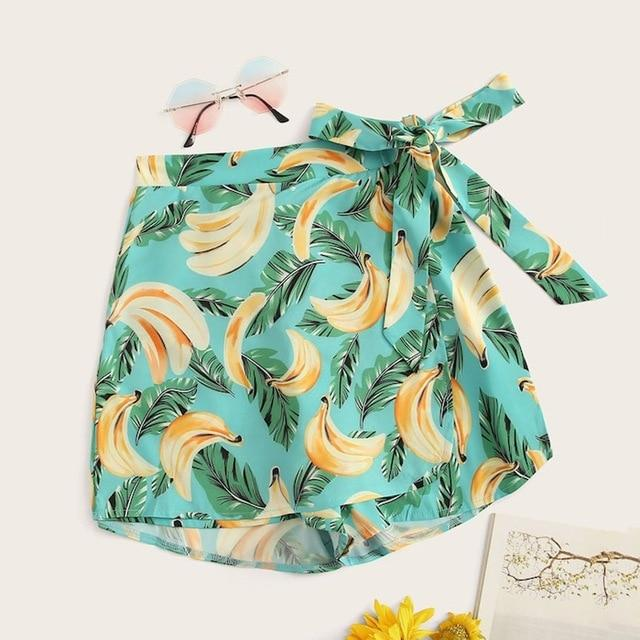 Banana print floral shorts - Fashion Bug Online