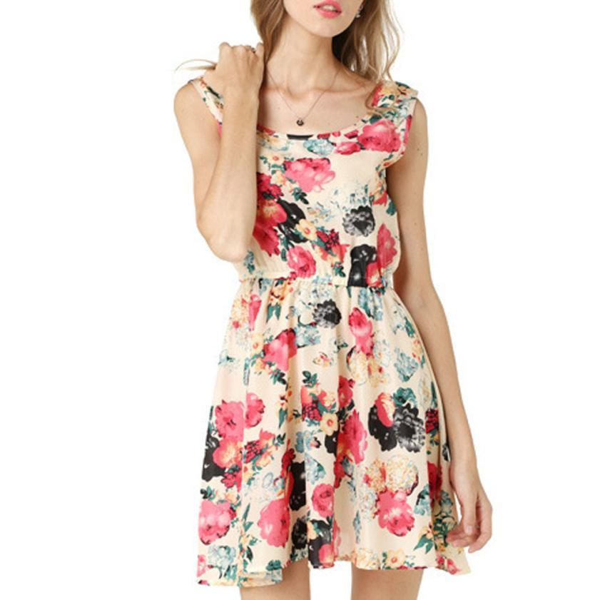 Beach blues floral mini dress - Fashion Bug Online