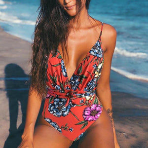 Beach queen floral print monokini - Fashion Bug Online