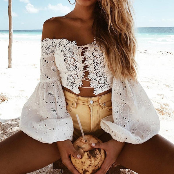 Beach Ready Laced Blouse - Fashion Bug Online