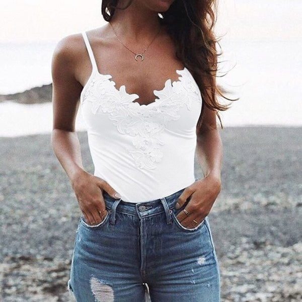 Beach ready lacey cami tank top - Fashion Bug Online