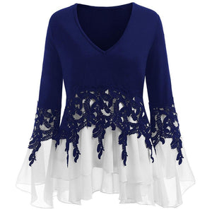 Bell Flare Sleeve Chiffon Top - Fashion Bug Online