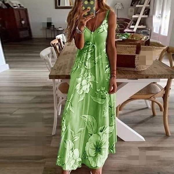 Bohemian Floral Print Long Dress - Fashion Bug Online