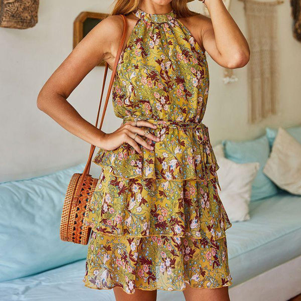 Boho Floral Mini Sundress - Fashion Bug Online