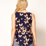 Butterfly Print Loose Tank Top