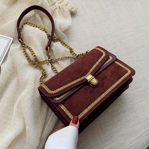 Chain rivets decorative mini bag