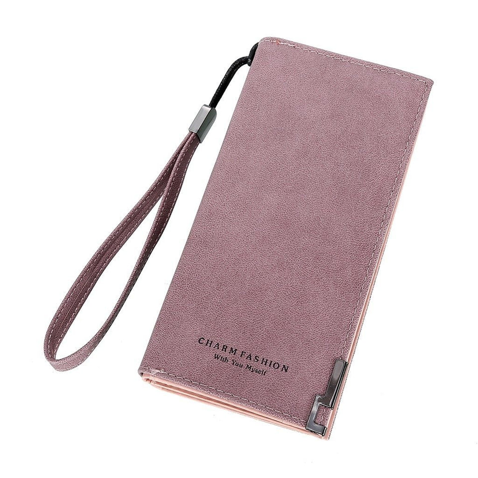 Charm fashion leather wallet