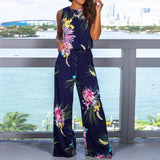 Cherished moments floral print jumpsuit